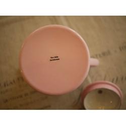 日本粉紅水玉點點琺瑯壺(大)