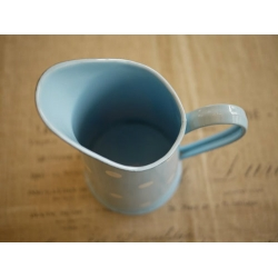 日本水藍色水玉點點琺瑯冷水壺花器