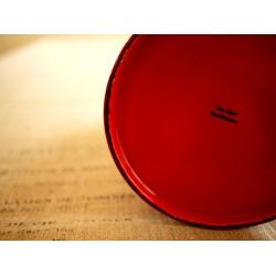 日本紅色水玉點點琺瑯冷水壺花器