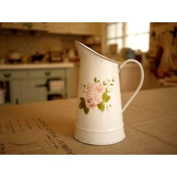日本薔薇琺瑯冷水壺花器