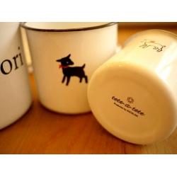 日本黑白小羊輕琺瑯置物罐