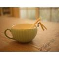 日本陶瓷淡綠杯匙組