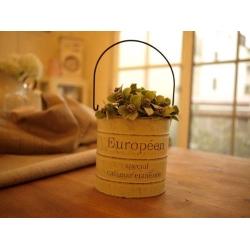 日本復古刷舊米黃白花器