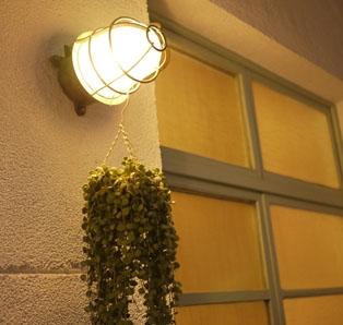 側院的燈與窗