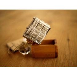 日本原木製盒日期印章