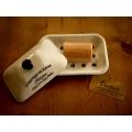 日本有蓋米白色琺瑯皂盒