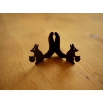 日本松鼠鐵製卡片名片架