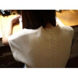 日本SM2米色毛質背心外套