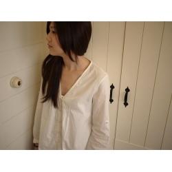 日本純白綿質裙衣(黑、白色)