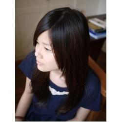 日本深藍蕾絲厚長T衣裙