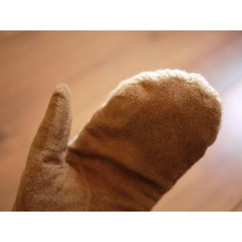 日本毛線麡皮手套
