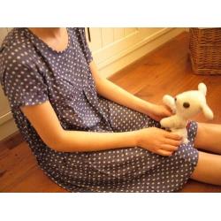 日本復古藍點點裙衣