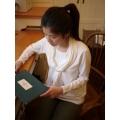 日本純白色領巾上衣(三色)
