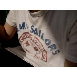 日本船錨棉質短袖長T