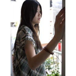日本棉麻綠格子上衣