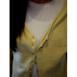 日本B.L.U.E黃色毛質上衣外套