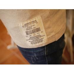 日本米色七分袖棉T