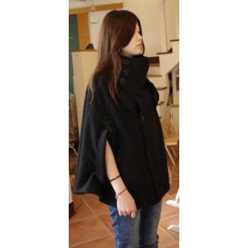 日本立領厚毛質罩衫外套