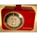 紅色德國1950年代古董秤