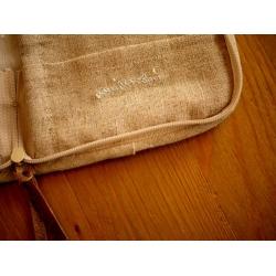 日本手作亞麻布筆記包