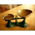 英國SALTER1950年代綠色銅盤天平秤