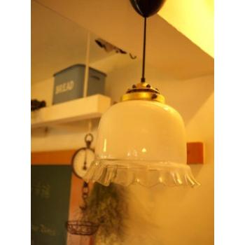 法國古董燈(蓬蓬裙燈罩)