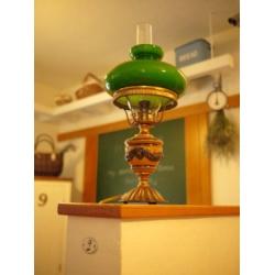 德國古董陶瓷玻璃復古綠燈