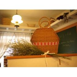 日本紅白腰邊藤籃