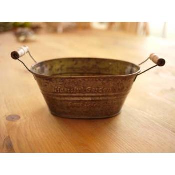 日本馬口鐵木把花器