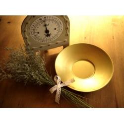 德國1960年代乳白金銅色秤盤古董秤