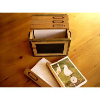 日本復古木製照片儲存箱