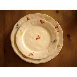 葡萄牙米黃色陶瓷小圓盤