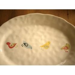 葡萄牙米黃色陶瓷大長盤