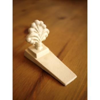 日本復古米白色鑄鐵門擋
