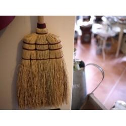 日本製手工皮繩掃把