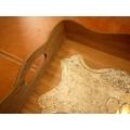 日本復古馬口鐵實木托盤