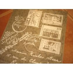 日本馬口鐵郵票圖置物盒