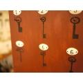 法國可立放壁掛實木鑰匙盒