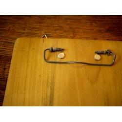 日本復古實木事務夾鐵製留言板