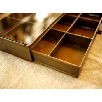 日本復古玻璃鐵製飾品盒