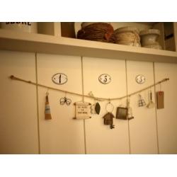 日本實木鐵絲麻繩吊飾
