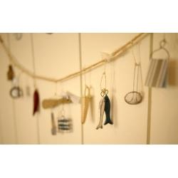 日本實木馬口鐵麻繩吊飾