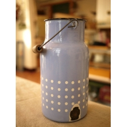 德國1960年淺水藍琺瑯牛奶壺