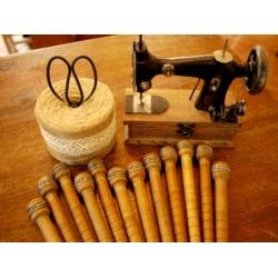 美國1920年代古董實木線軸
