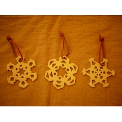 日本米白陶瓷雪花皮革杯墊吊飾3款