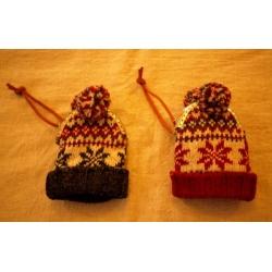 日本毛線雪帽手機小錢包