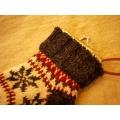 日本毛線雪襪手機小錢包
