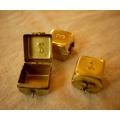 日本銅製123乳牙飾品置物盒(方)