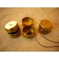 日本銅製123乳牙飾品置物盒(圓)