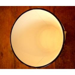 日本純白深藍邊厚琺瑯水桶